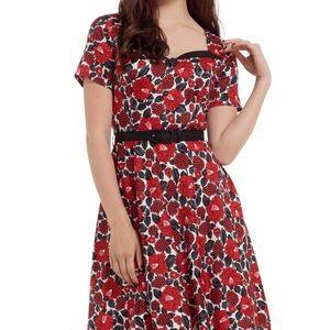 Voodoo Vixen Red Poppy Dress